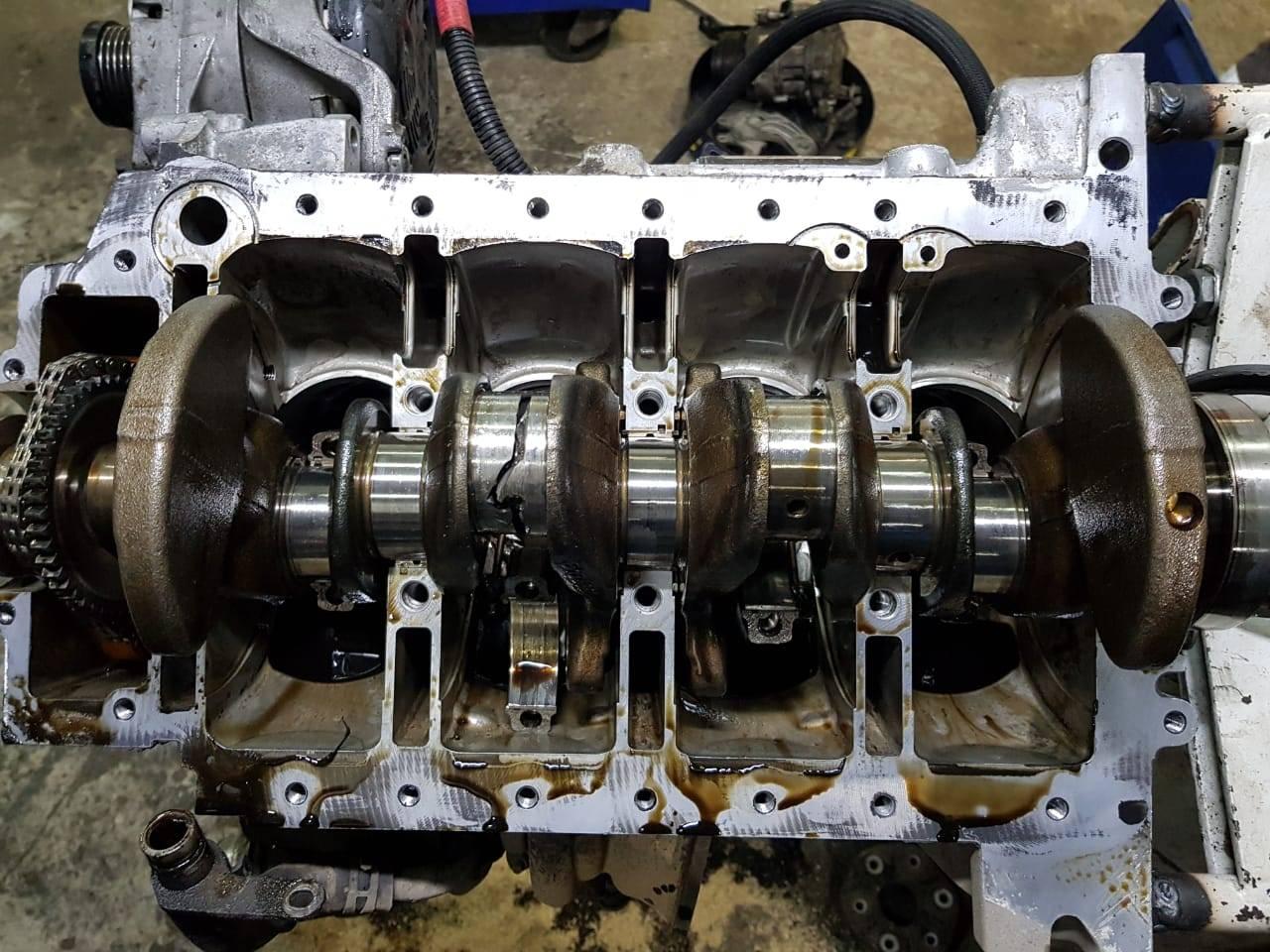 ремонт и замена двигателя N20 на BMW F10 528iX