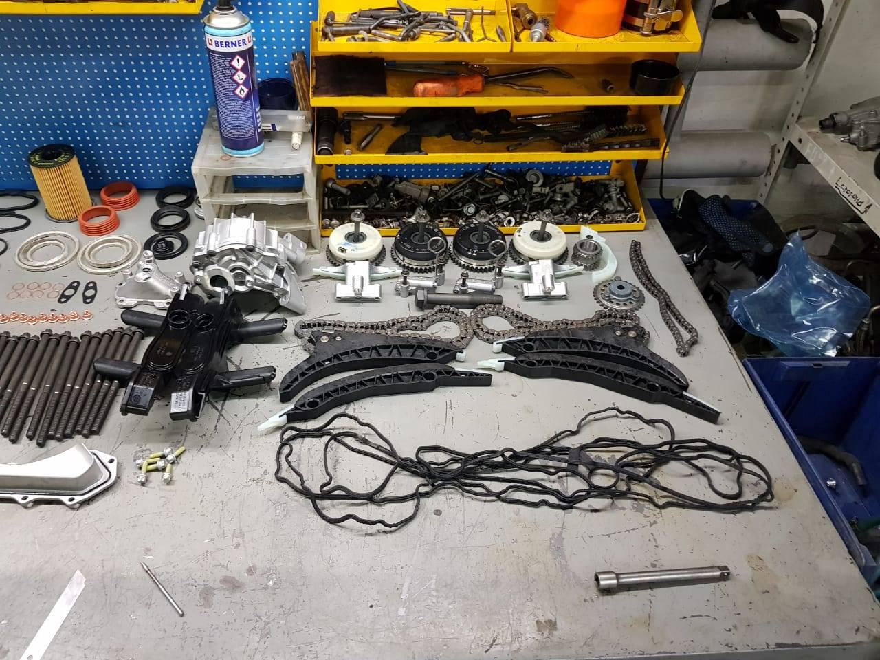Капитальный ремонт двигателя N63 на BMW F10 550iX 5