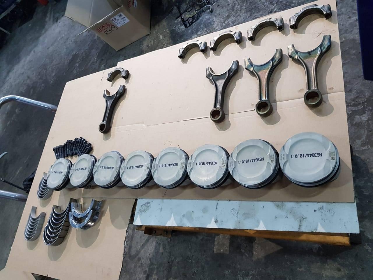 Капитальный ремонт двигателя N63 на BMW F10 550iX 8