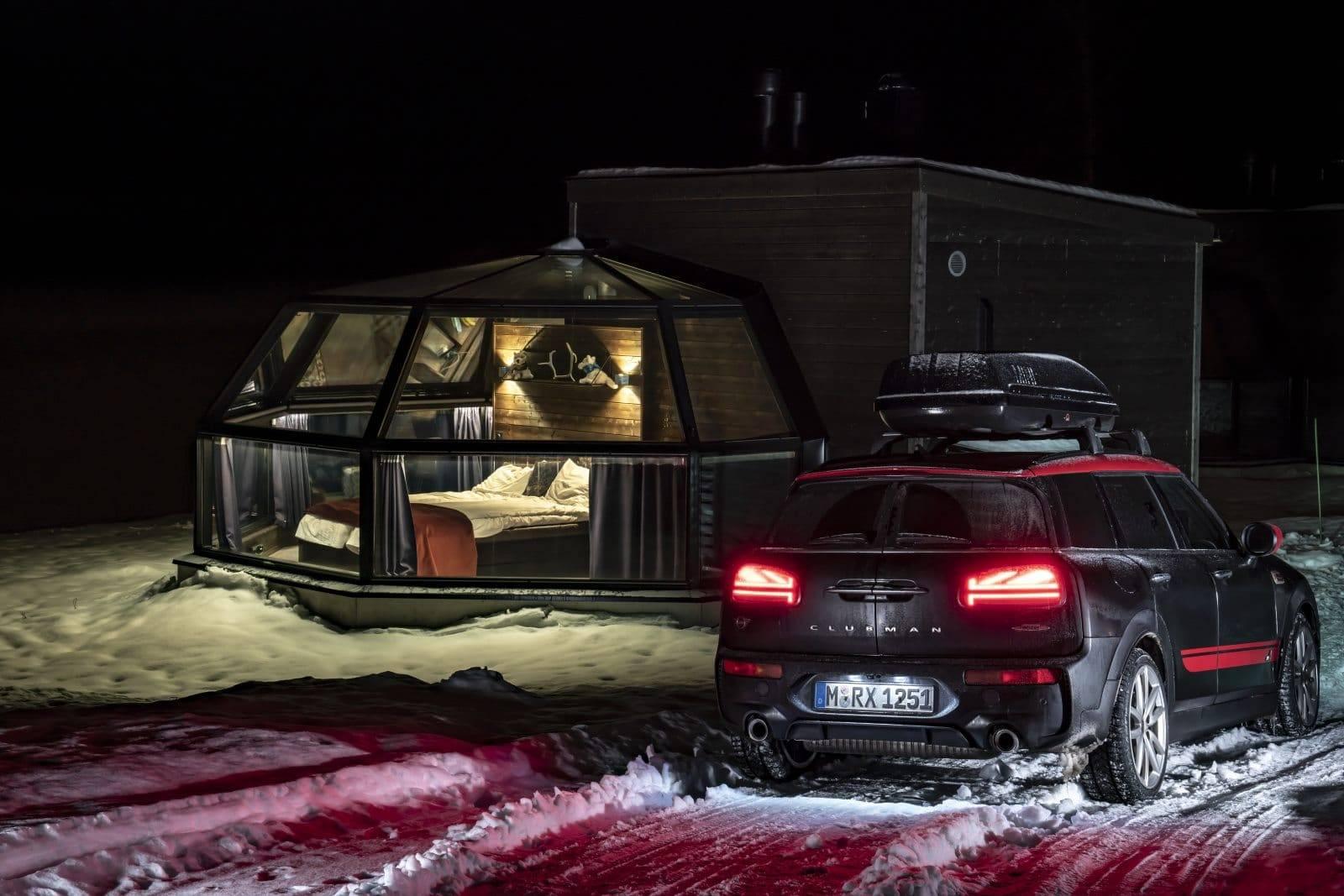 «Поездка на санях»: через Лапландию на MINI JCW Clubman 8