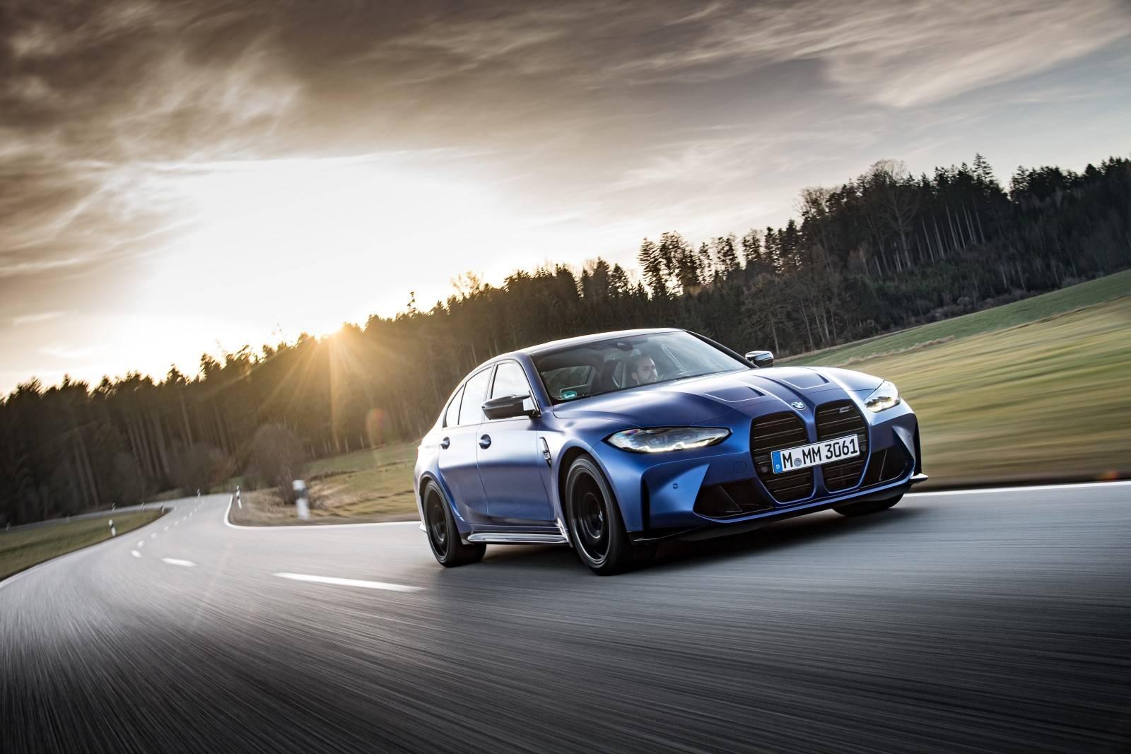 Седан BMW M3 и купе BMW M4 Competition прошли тест-драйв 8